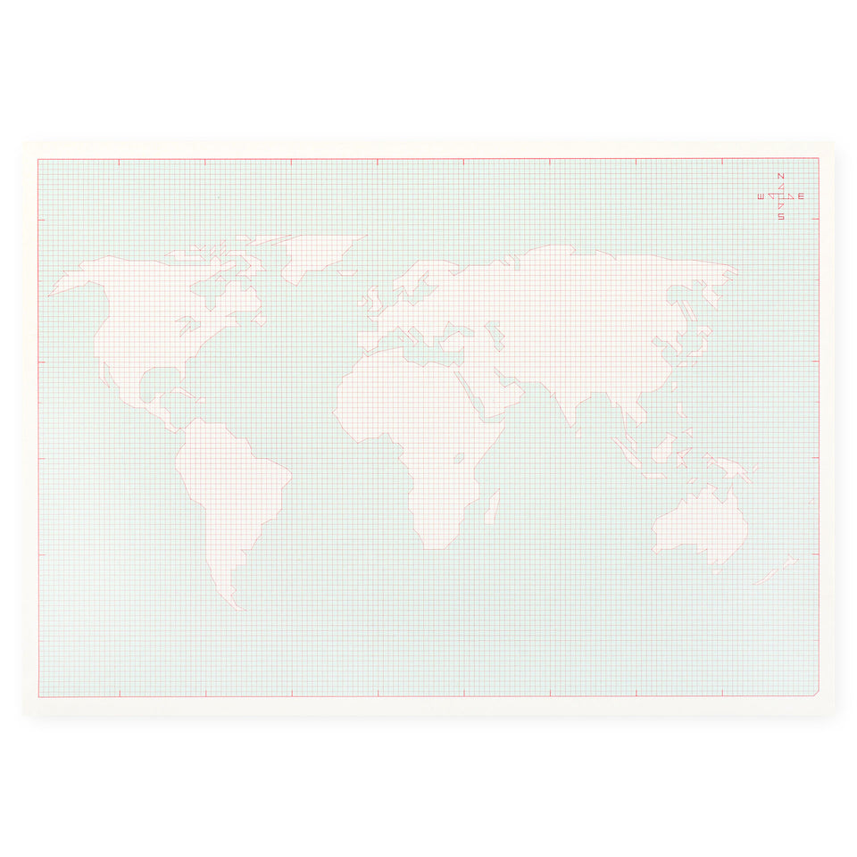 Paperways Desk Notepad World Map A4