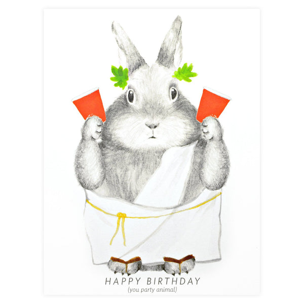 Dear Hancock Party Animal Birthday Card - GREER Chicago Online Stationery Shop