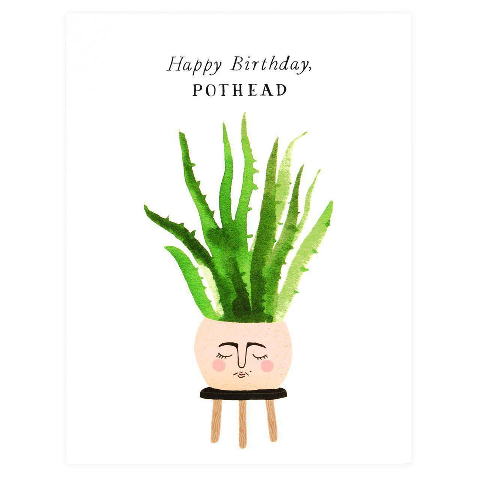 Party Of One Paper Birthday Pothead Card