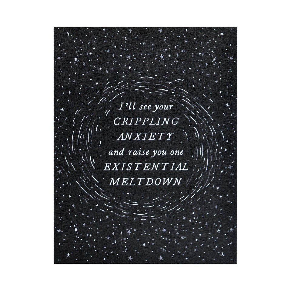 Party Of One Paper Existential Meltdown Greeting Card