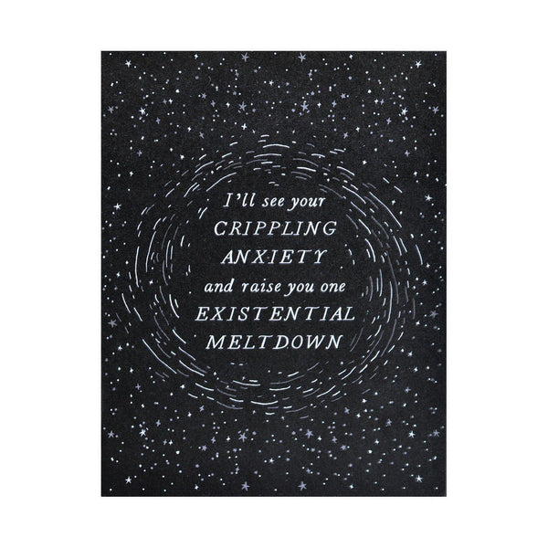 Existential Meltdown Greeting Card
