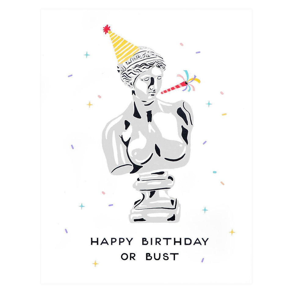 Party Of One Paper Birthday Bust Greeting Card