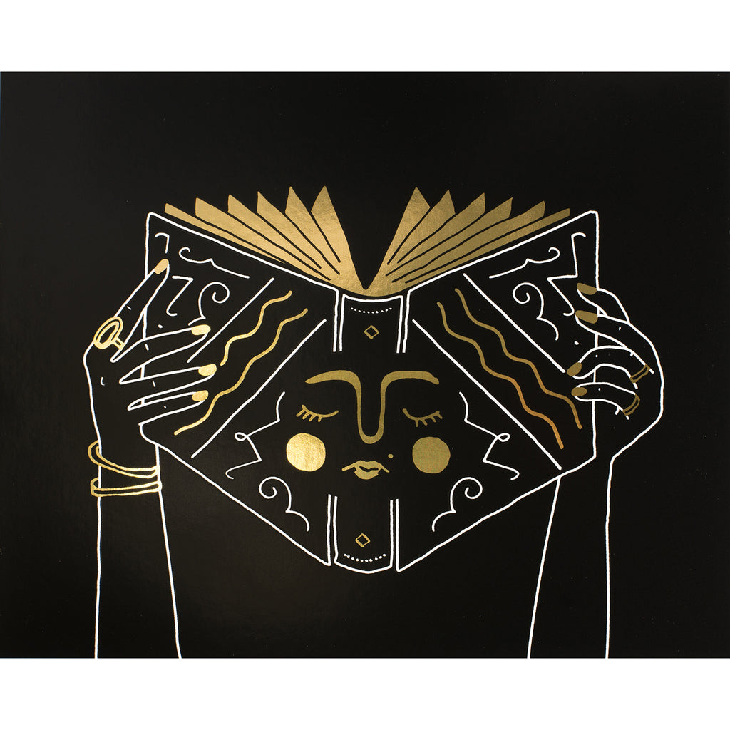 Party of One Paper Book Face Gold Foil Print