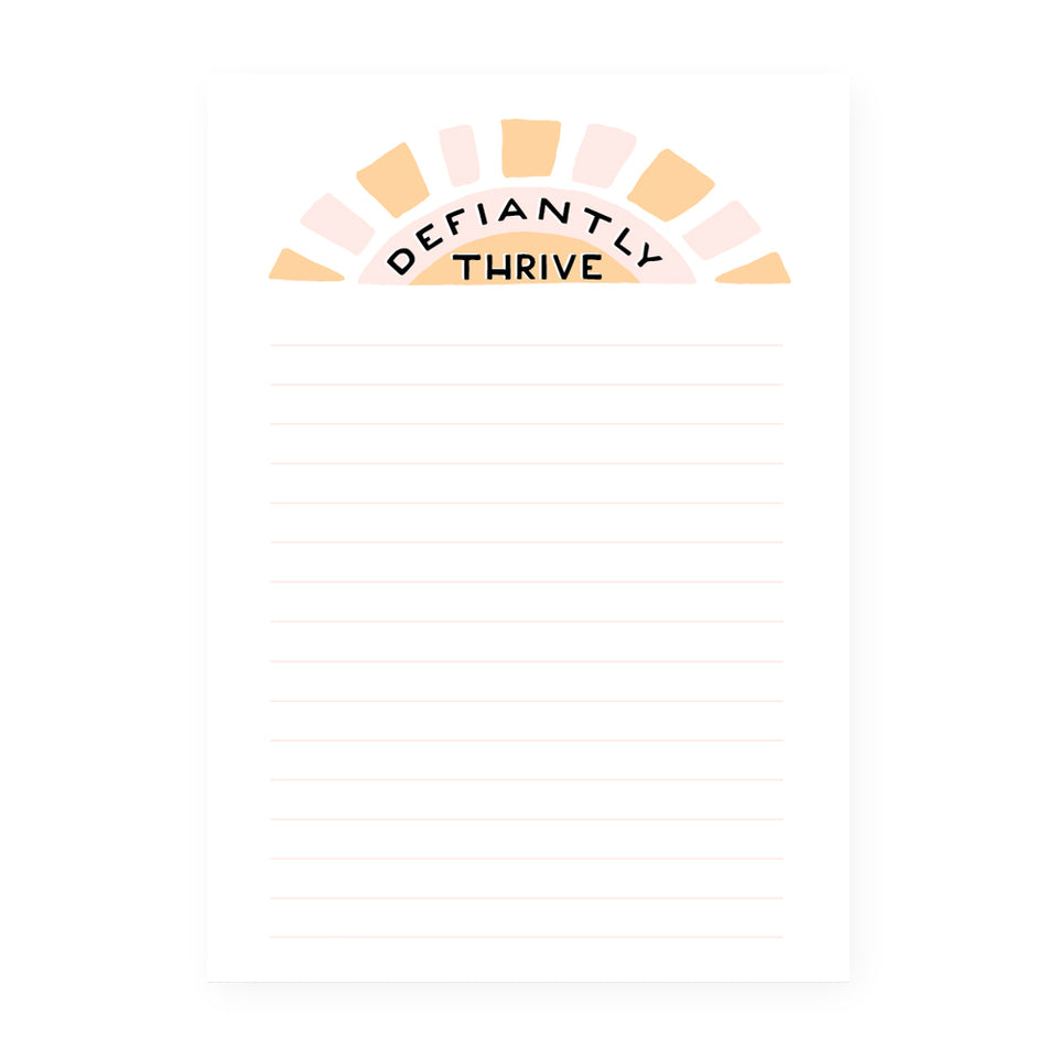 Party Of One Paper Defiantly Thrive Notepad