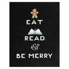 Party Of One Paper Eat Read Be Merry Holiday Cards Boxed