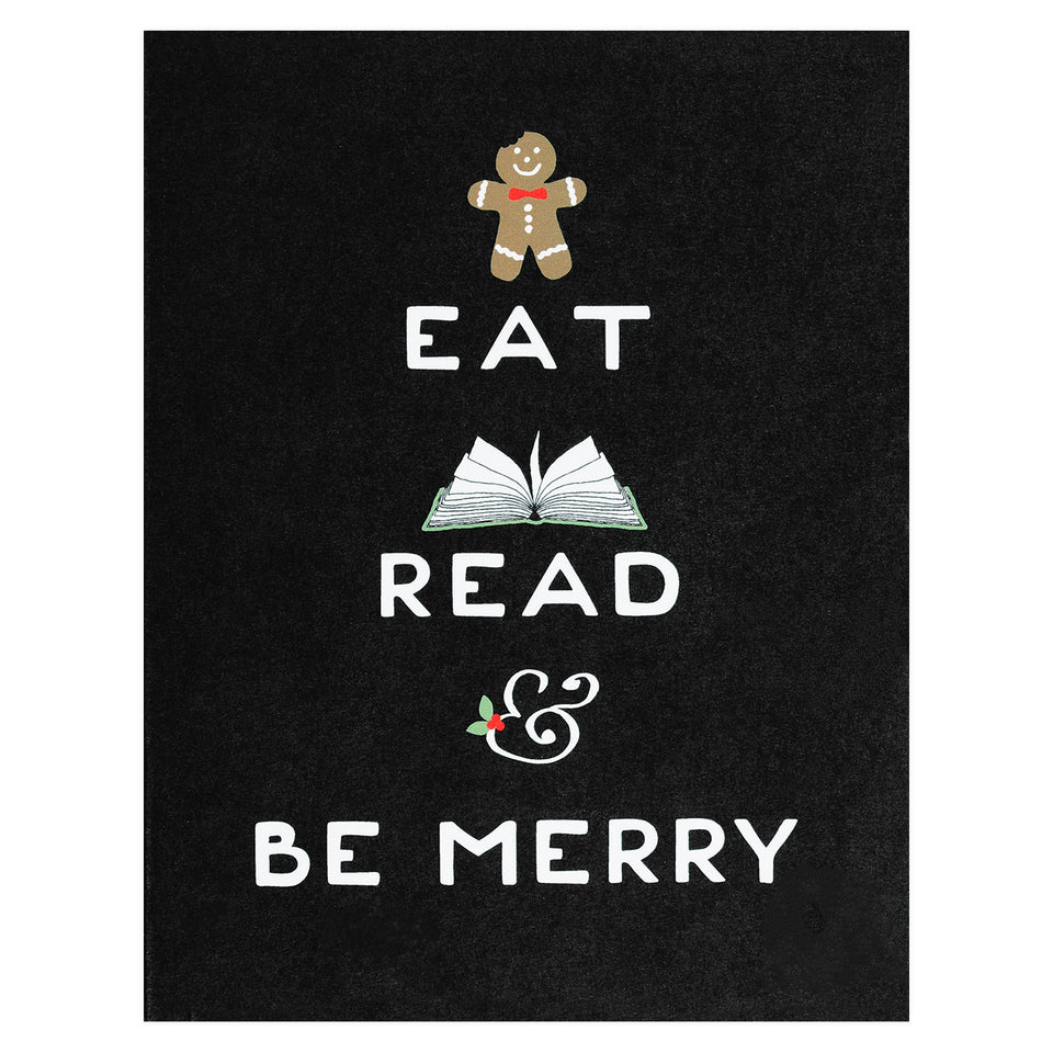 Party Of One Paper Eat Read Be Merry Holiday Cards Boxed or Single