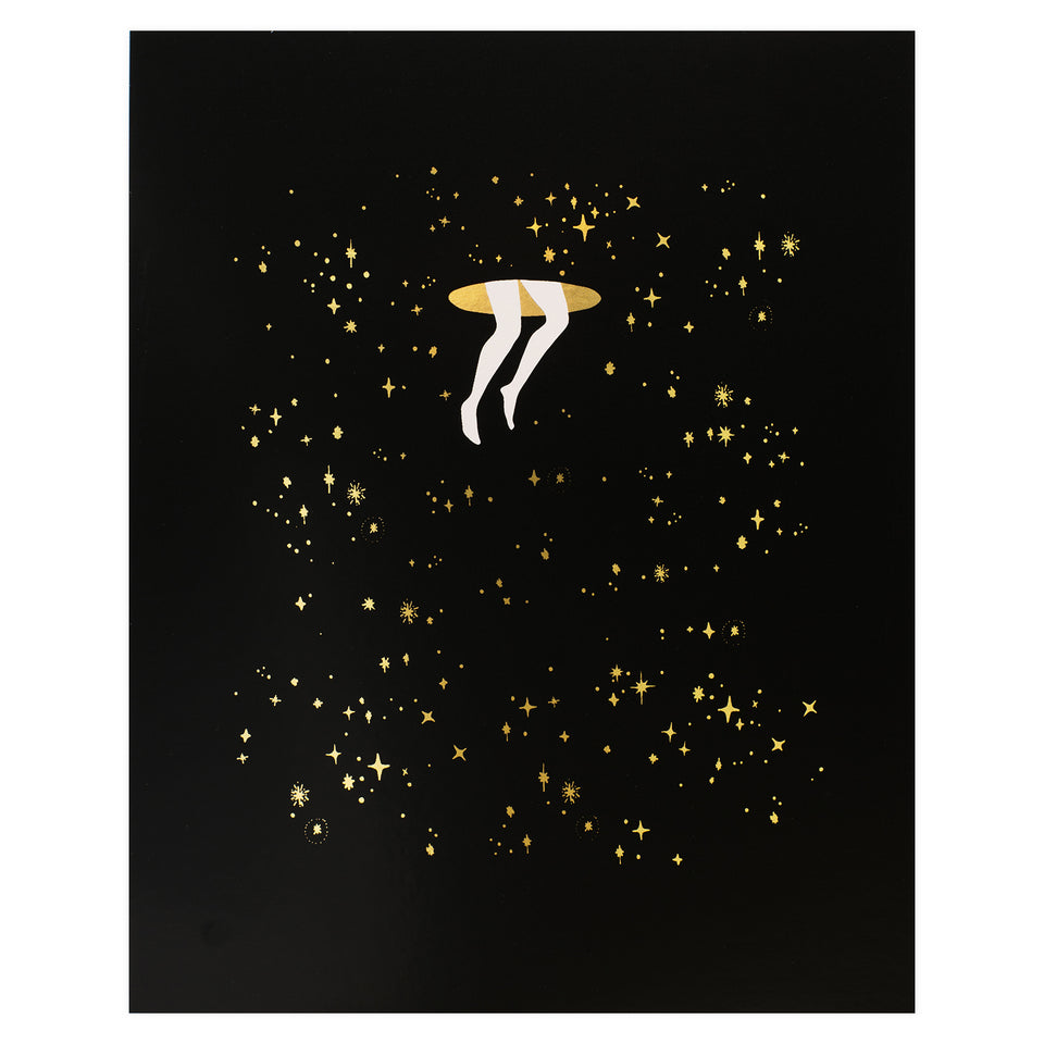 Party of One Paper Portal Gold Foil Print