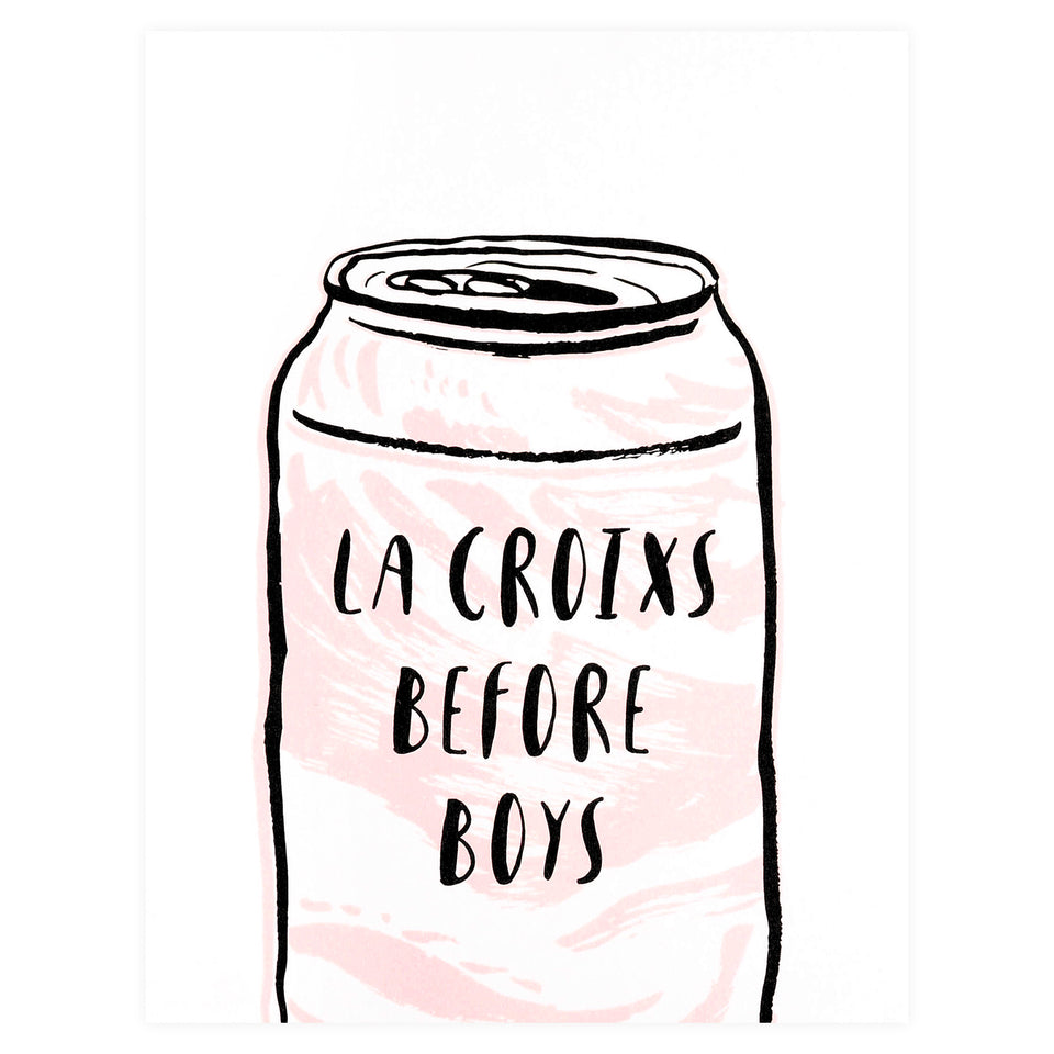 Party Of One Paper La Croixs Before Boys Greeting Card