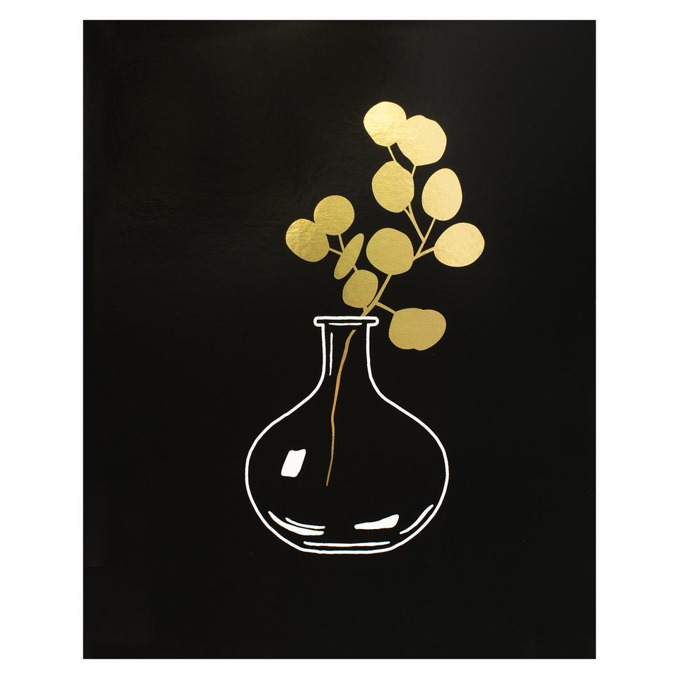 Party of One Paper Round Vase Gold Foil Print