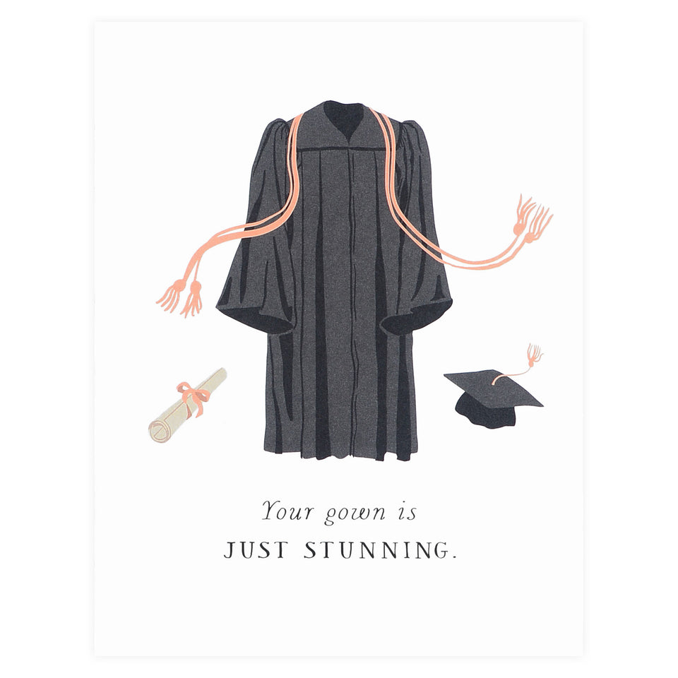Party Of One Paper Stunning Gown Graduation Card