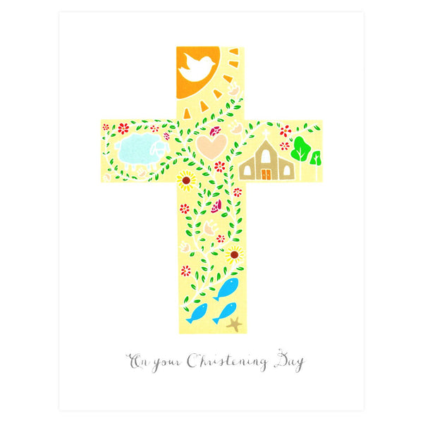 Christening Greeting Card By Paula & Waffle