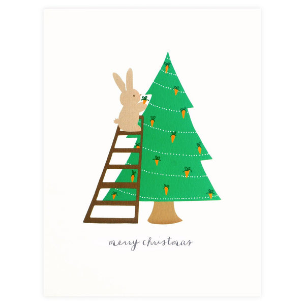 Paula & Waffle Bunny Christmas Boxed Cards - GREER Chicago Online Stationery Shop