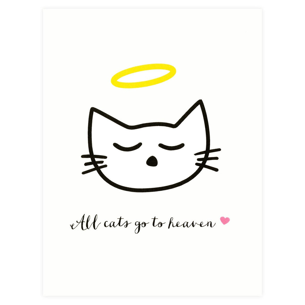 All Cats Go To Heaven Pet Sympathy Card - GREER Chicago Online Stationery