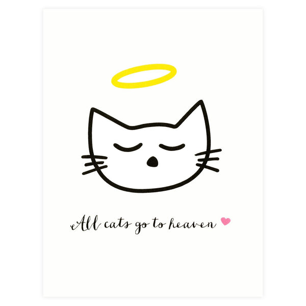 All Cats Go To Heaven Pet Sympathy Card By Paula & Waffle
