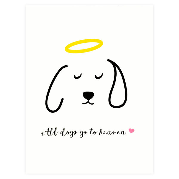 Paula & Waffle All Dogs Go To Heaven Pet Sympathy Card - GREER Chicago Online Stationery Shop