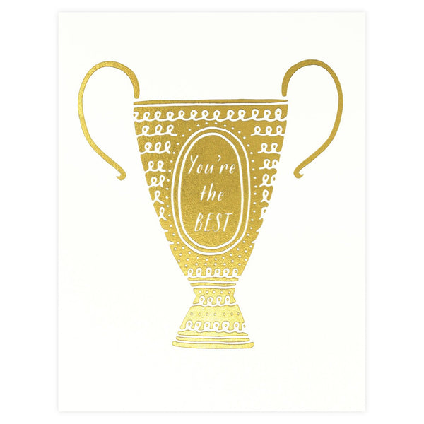You're The Best Trophy Greeting Card By Paula & Waffle - 1