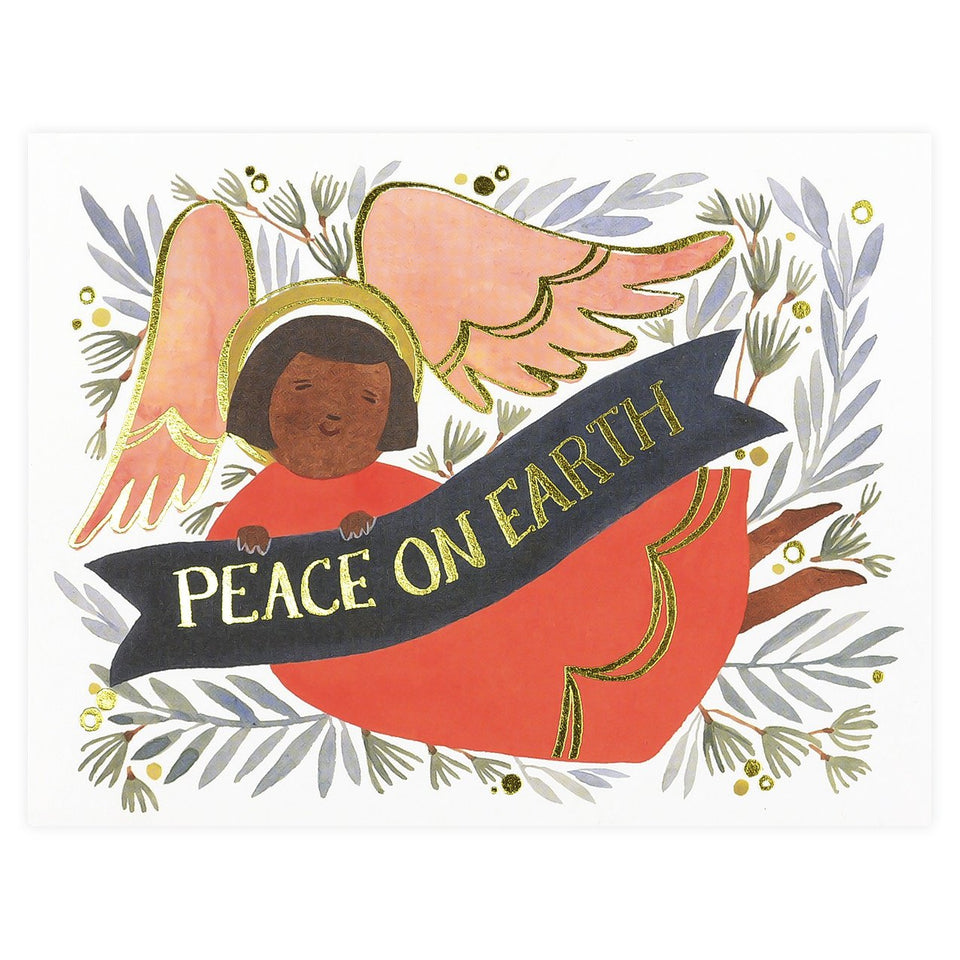 Red Cap Cards Peace Angel Christmas Holiday Cards Boxed