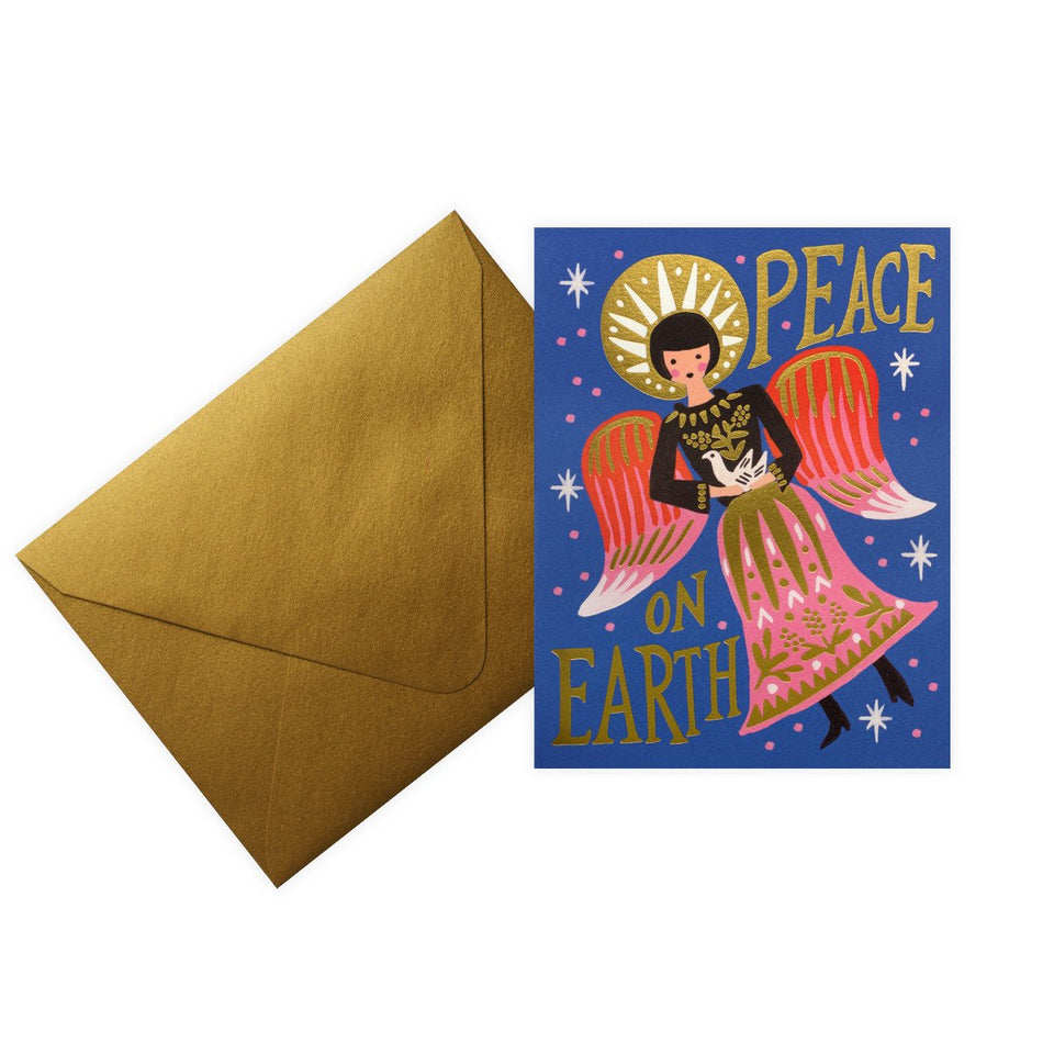 Rifle Paper Co. Peace on Earth Angel Christmas Holiday Boxed Cards