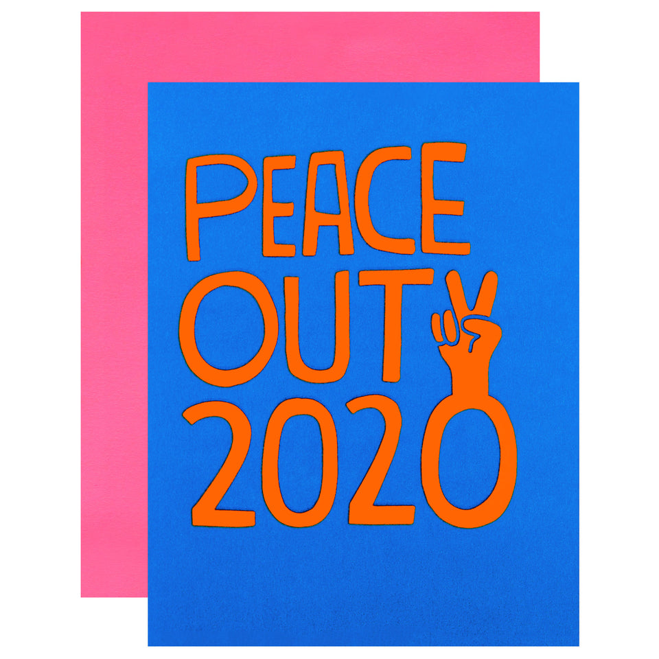 Peace Out 2020 New Year Card