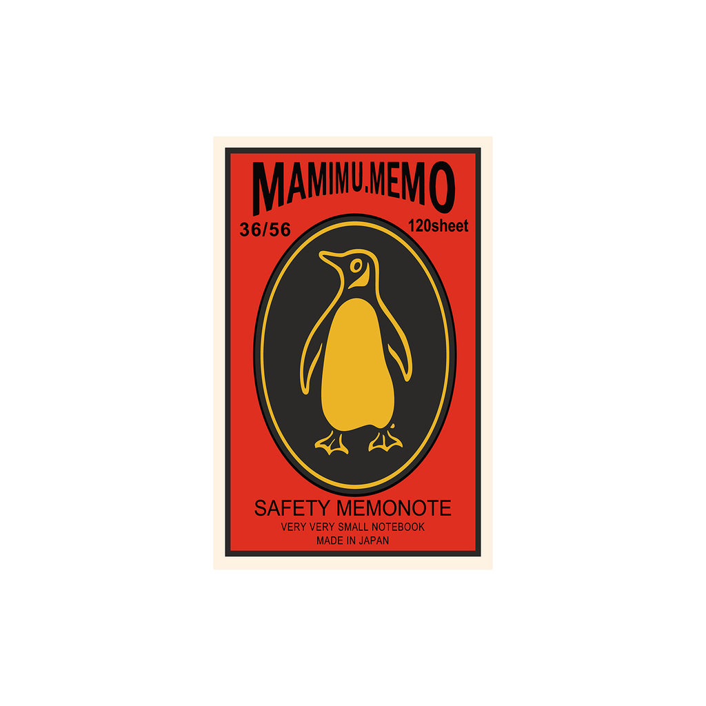 Shunkoen Mamimu American Vintage Matchbox Design Mini Memo Notebook | Ten Designs Penguin
