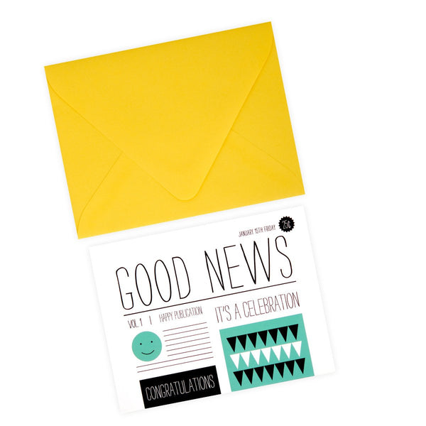 Good News Congratulations Card By Pei Design - 1