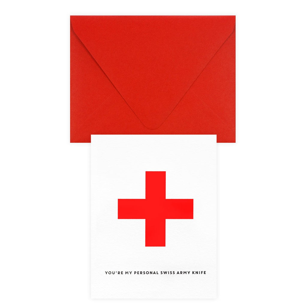 Personal Swiss Army Knife Greeting Card By Paper Bandit Press - 2