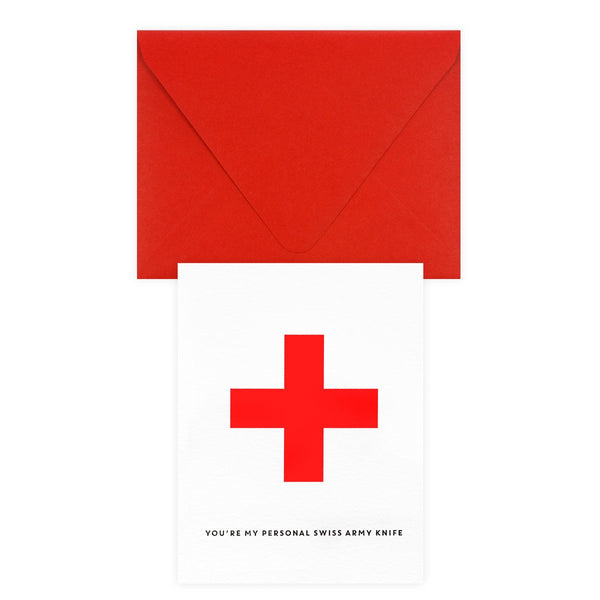 Personal Swiss Army Knife Greeting Card By Paper Bandit Press - 1