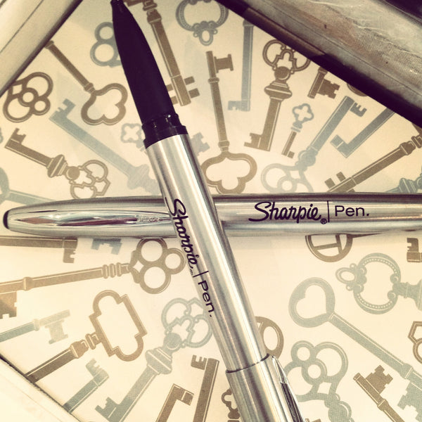 Stainless Steel Sharpie Fine Point Pen - GREER Chicago Online Stationery