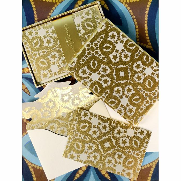 Oro y Plata Baroque Correspondence Cards By Christian Lacroix - 2