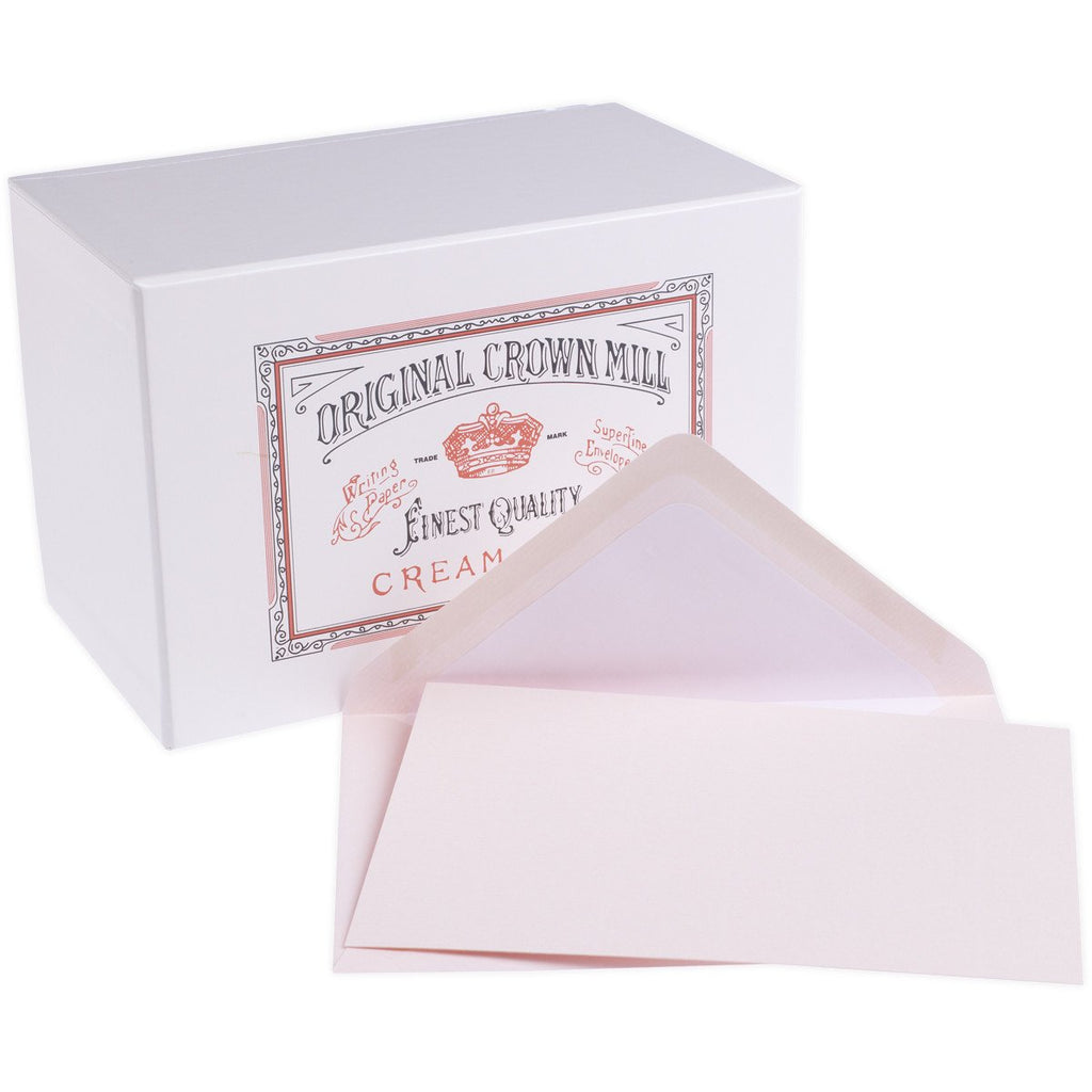 Classic Laid Note Card Presentation Box Pink By Crown Mill - 1