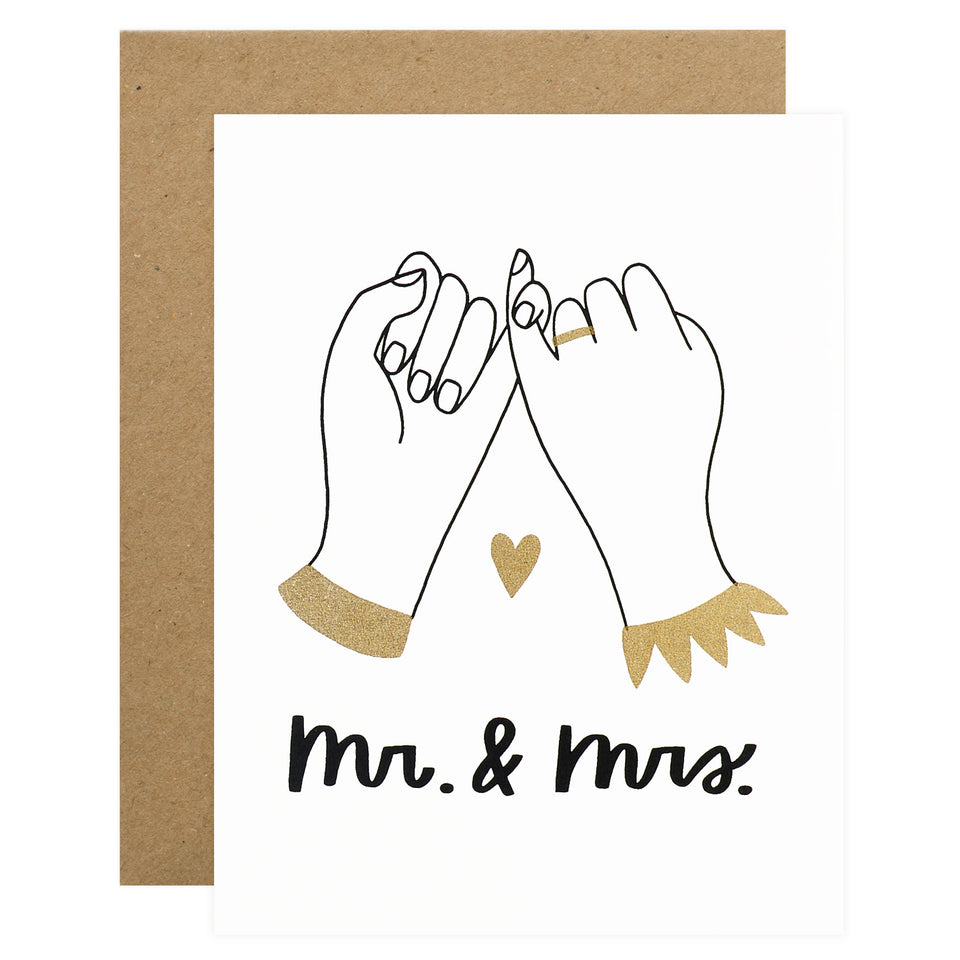 Worthwhile Paper Pinky Promise Wedding Card