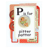 Regional Assembly of Text Pitter Patter Button Pin Card