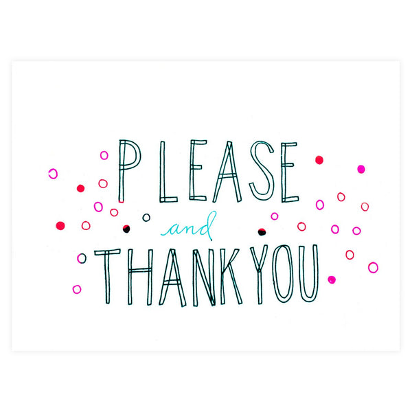 Please And Thank You Card - GREER Chicago Online Stationery