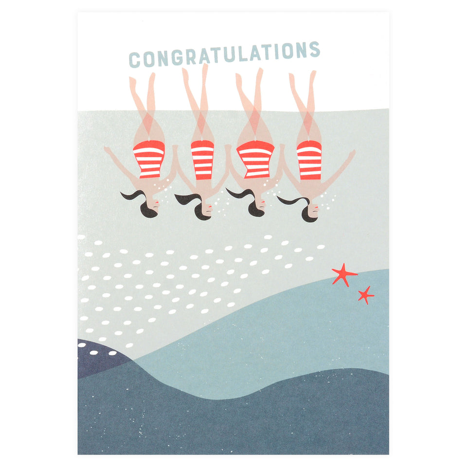 pleased to meet Synchronized Swimmers Congratulations Card