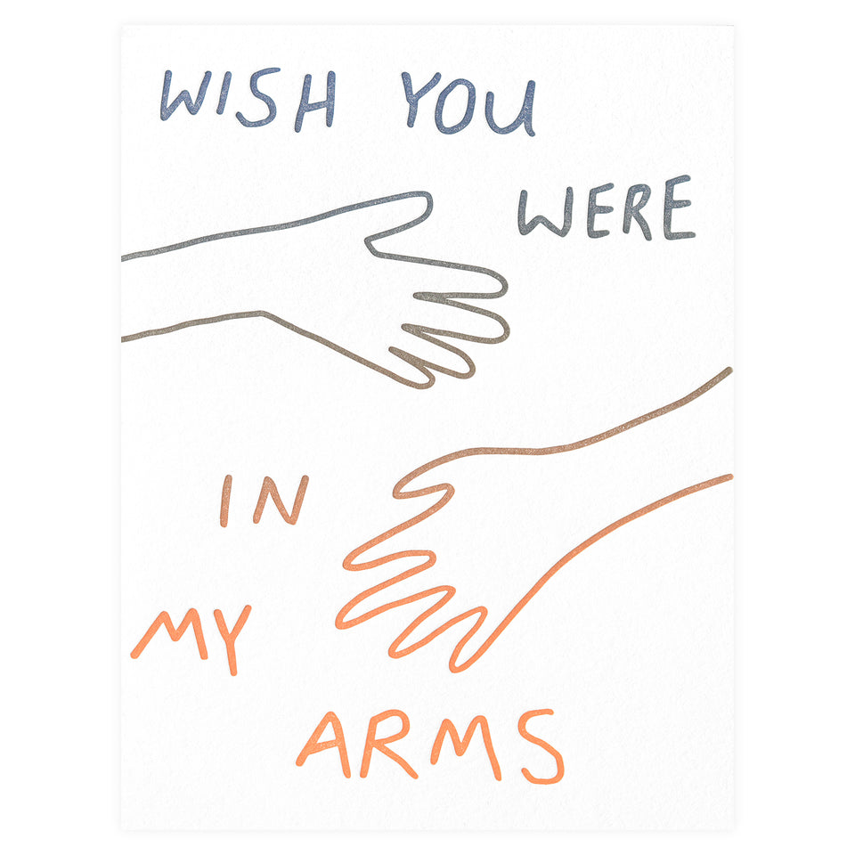 Poem Press In My Arms Greeting Card