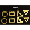 Brass Geometric Clips Set