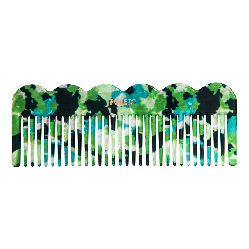 Poketo Poketo Wave Comb Green Multi