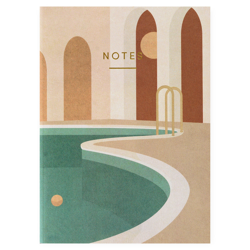 Wrap Pool with Arches Notebook Blank