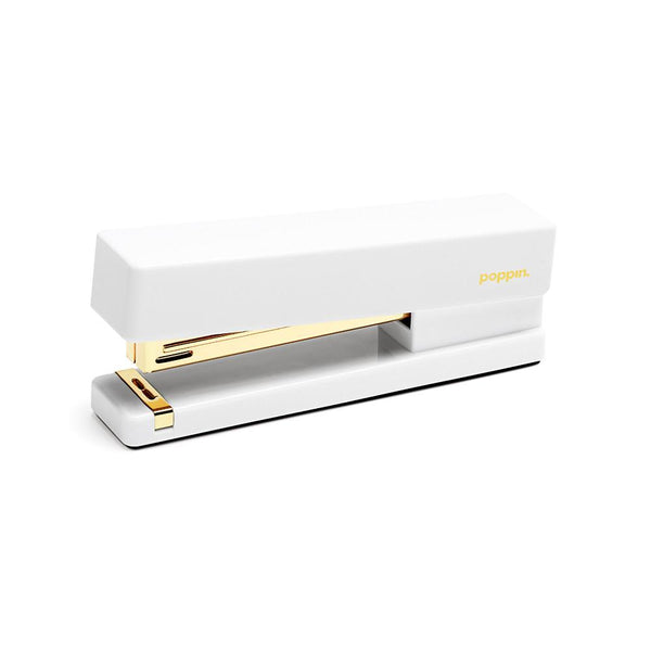 Poppin White and Gold Stapler - GREER Chicago Online Stationery Shop
