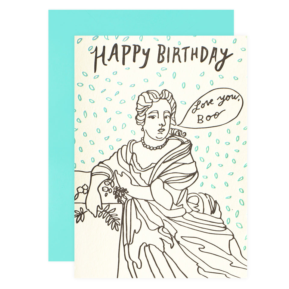 Wolf and Wren Press Portrait Birthday Card