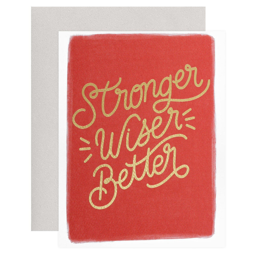 Posterity Paper Wiser Greeting Card