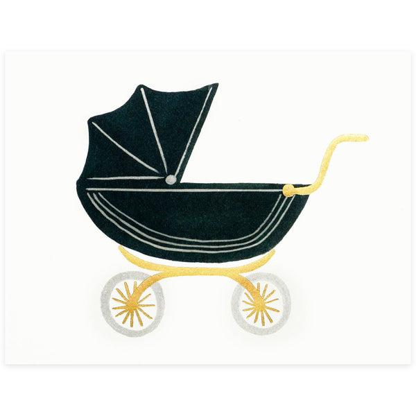 Rifle Paper Co. Pram New Baby Card - GREER Chicago Online Stationery Shop