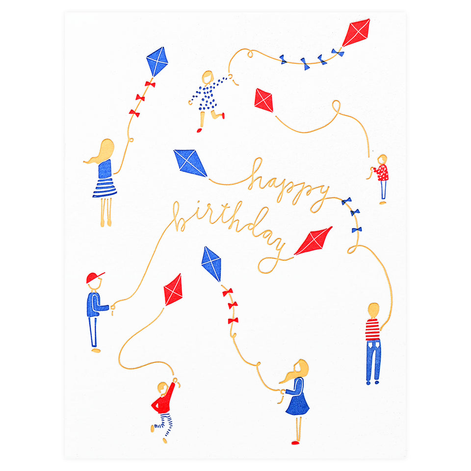 Printerette Press Kites Birthday Card