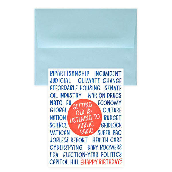 Public Radio Birthday Card By Paper Parasol Press - 1