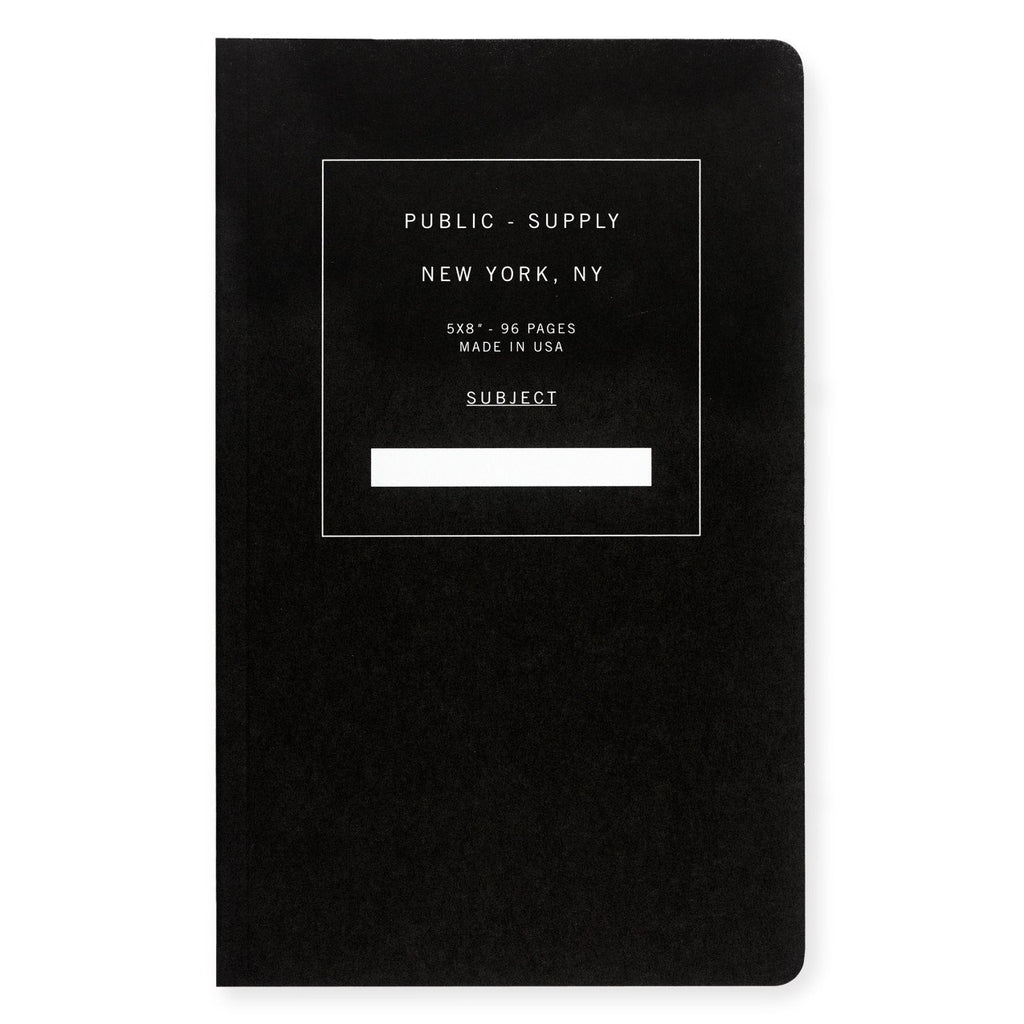 "5 x 8"" Dot or Ruled Notebook Black 01 By Public - Supply - 1"