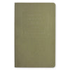 "Public - Supply 5 x 8"" Embossed Cover Dot Grid or Ruled Notebook Olive - GREER Chicago Online Stationery Shop"