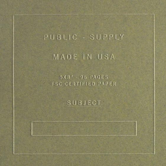"5 x 8"" Embossed Cover Dot Grid or Ruled Notebook Olive"