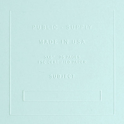 "Public - Supply 5 x 8"" Embossed Cover Ruled or Dot Grid Notebook Sno Cone"