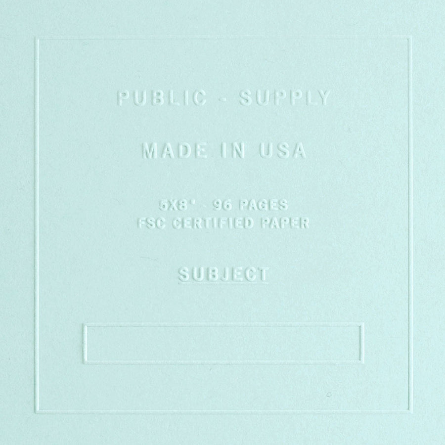 "Public - Supply 5 x 8"" Embossed Cover Ruled Notebook Sno Cone - GREER Chicago Online Stationery Shop"