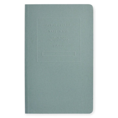 "5 x 8"" Embossed Cover Dot Grid or Ruled Notebook Steel Blue Public - Supply  - GREER Chicago"